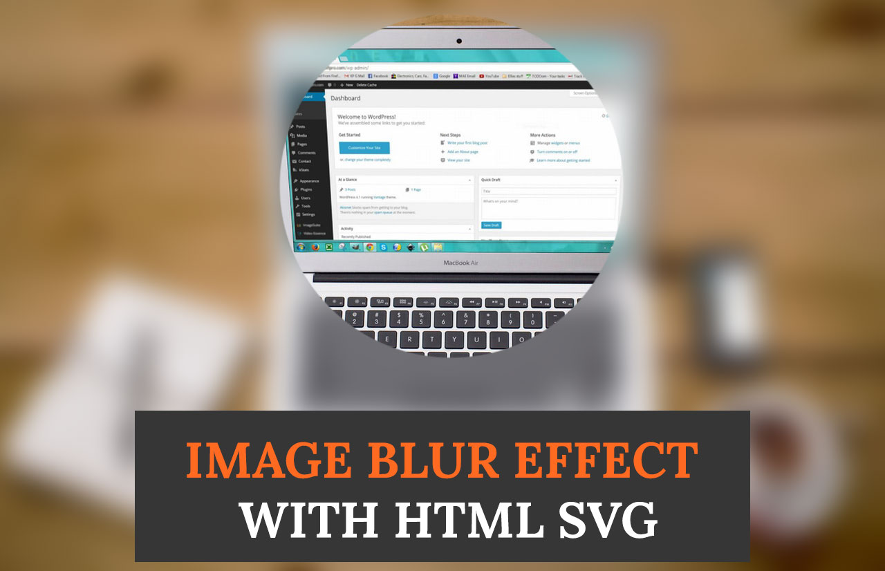 How to Create SVG Image Blur Effect & Mouseover Effect - HTML5