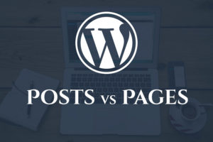 Wordpress Posts vs Pages