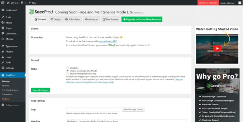 SeedProd Coming Soon - Best Under Construction Plugin
