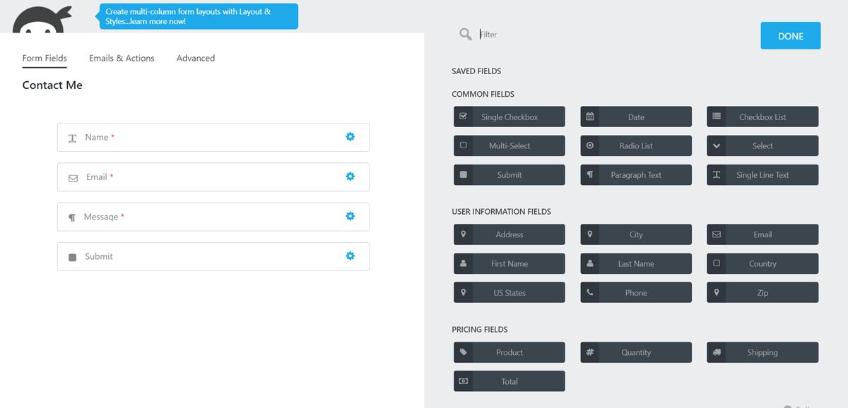 Best WordPress Form Builder Plugins - NinjaForms