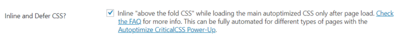 inline and defer css