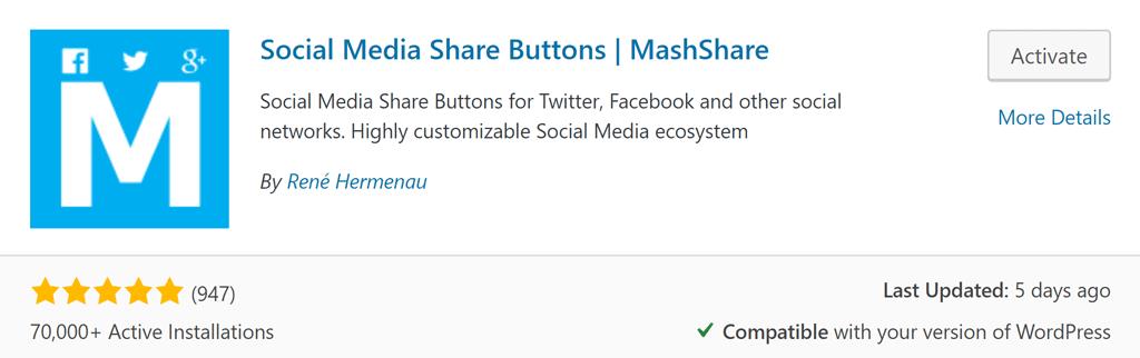 MashShare social plugin