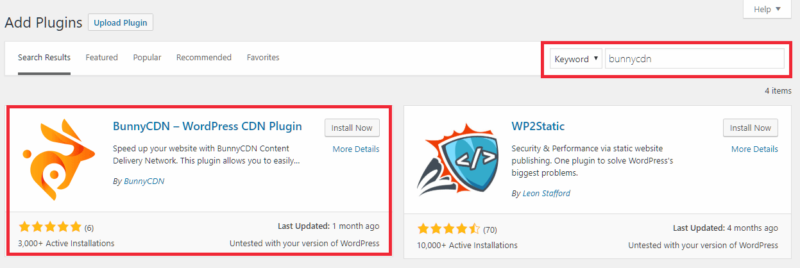 BunnyCDN WordPress Plugin