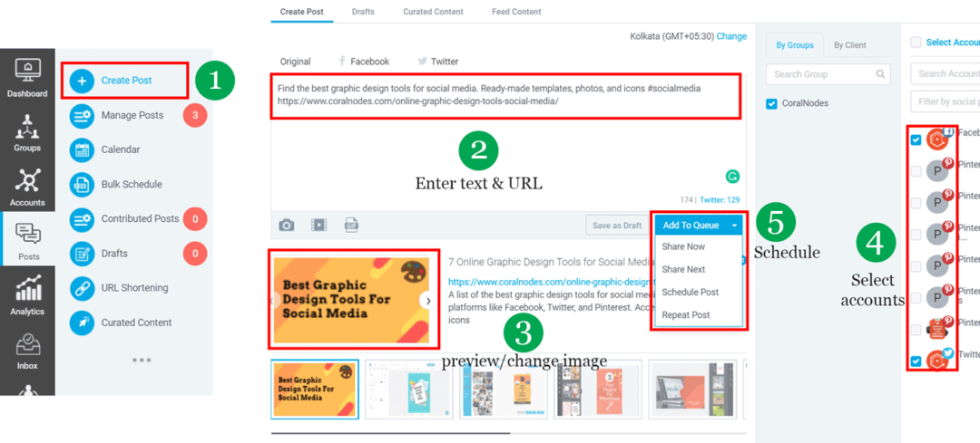 How to schedule posts with SocialPilot