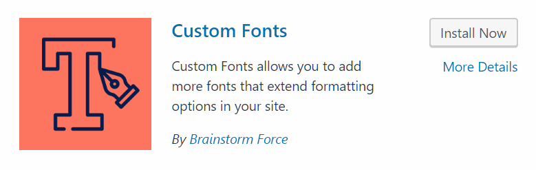 Custom Fonts WordPress Plugin