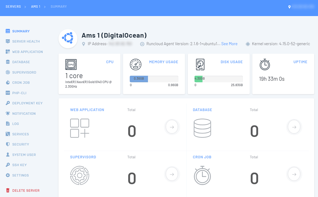 Connect DigitalOcean with RunCloud