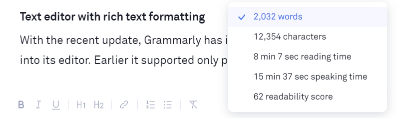 Grammarly Editor