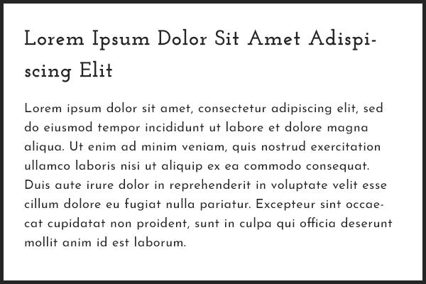 Josefin Slab & Josefin Sans