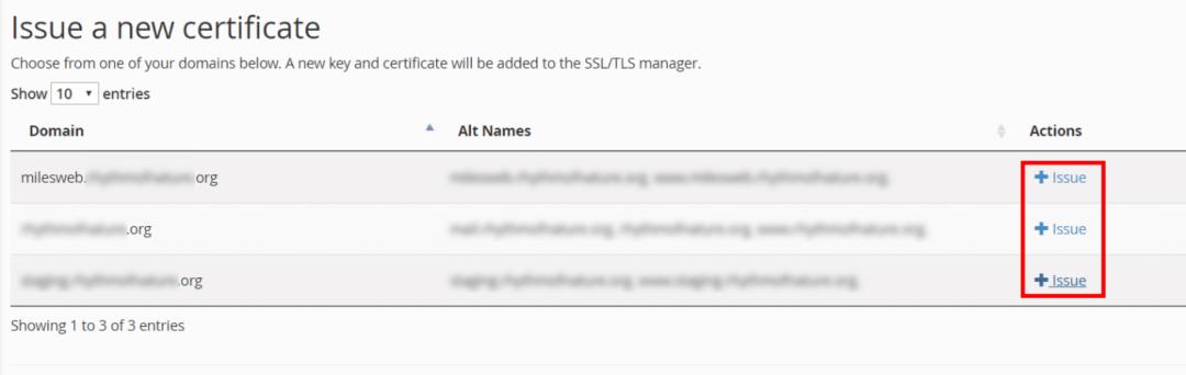 Install Let's Encrypt SSL - MilesWeb