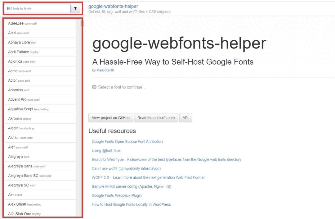 How to host Google Fonts Locally - using google webfonts helper