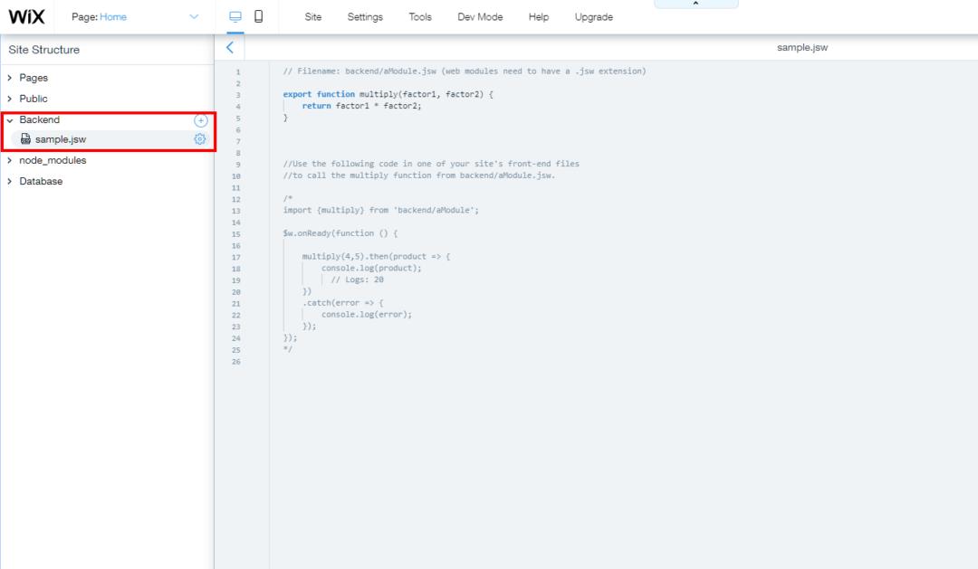 Adding backend web modules