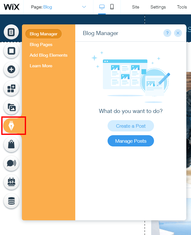 Blogging on Wix platform