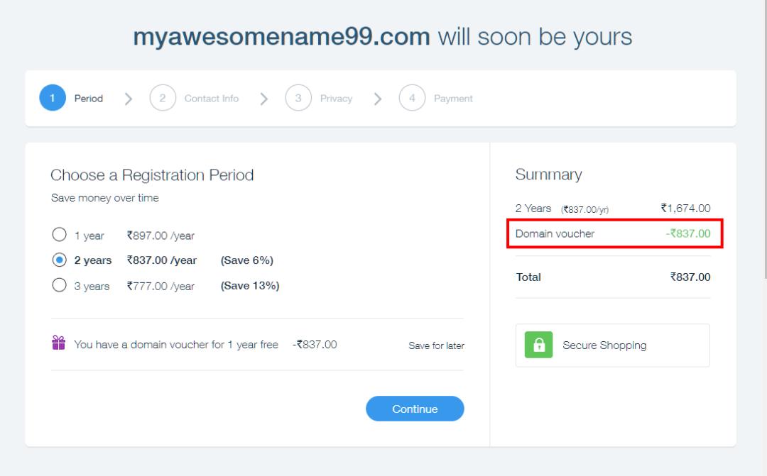 Domain name pricing