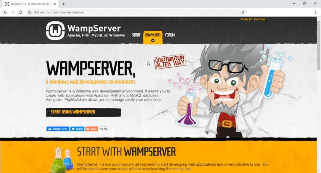 WAMP home page