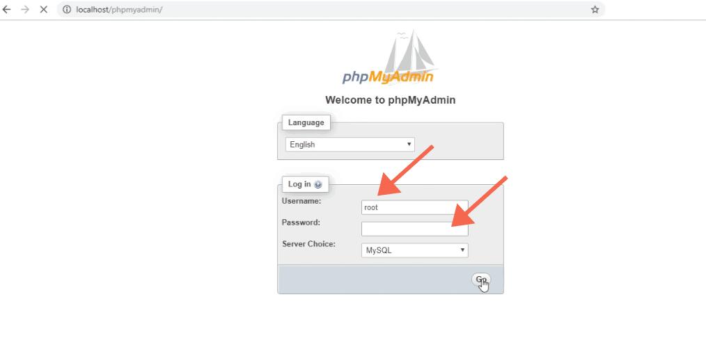 Login to PHPMyAdmin in WAMP