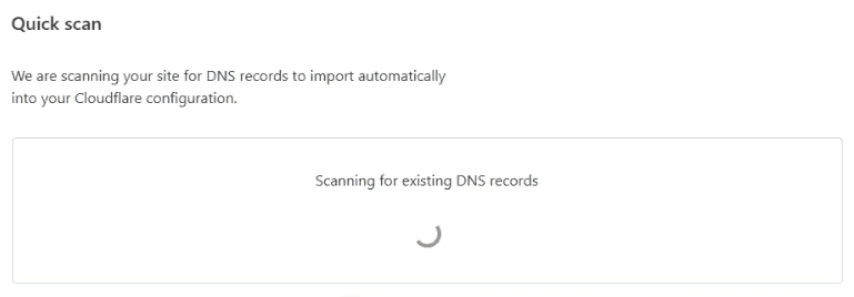 Cloudflare scanning for DNS records