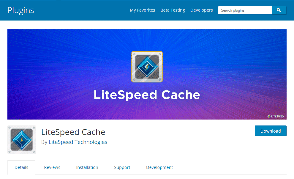 LiteSpeed Cache Plugin for WordPress