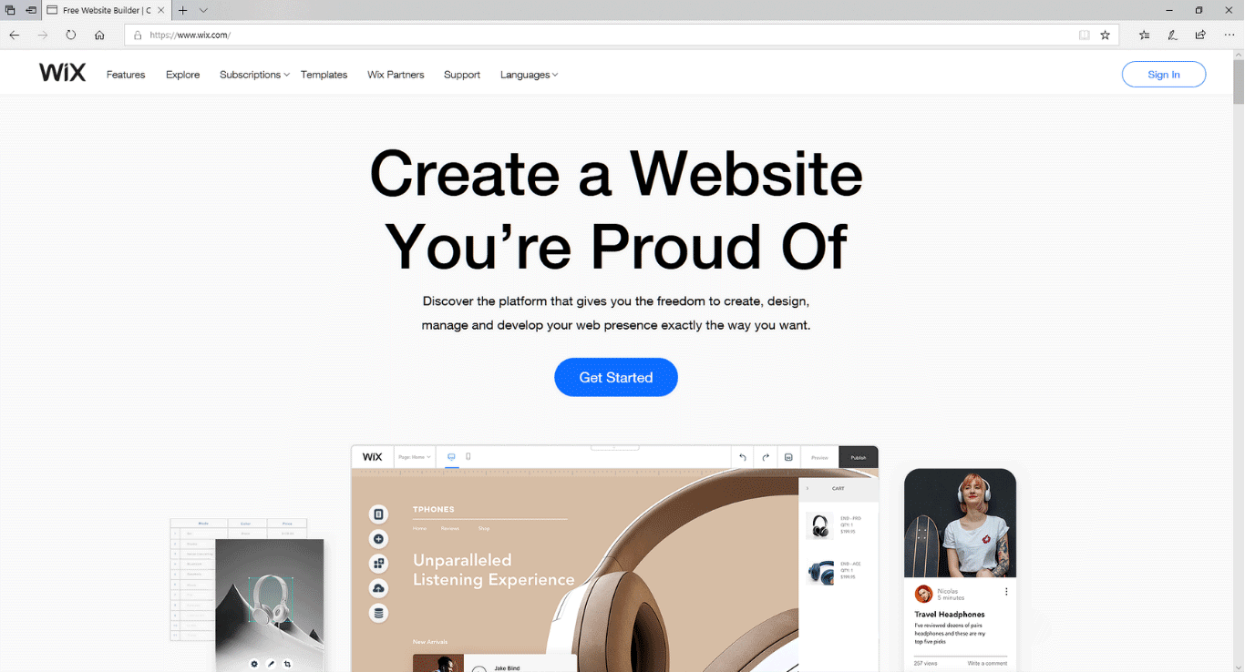 Wix - Blog & website builder