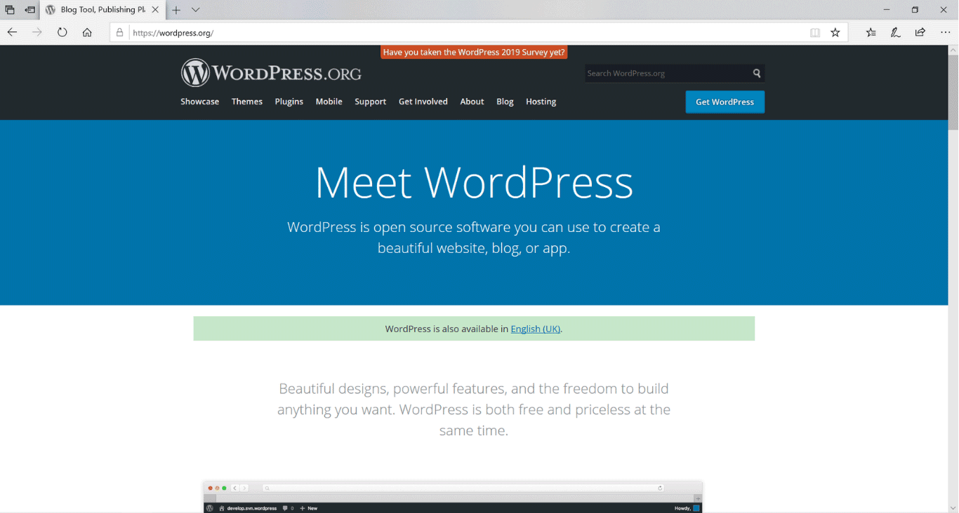 Best blogging platform - WordPress.Org