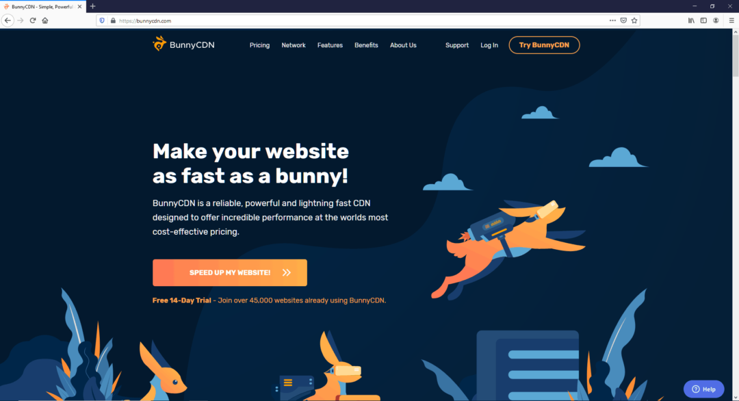BunnyCDN - best CDN for WordPress