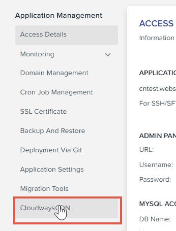 Cloudways Application Management