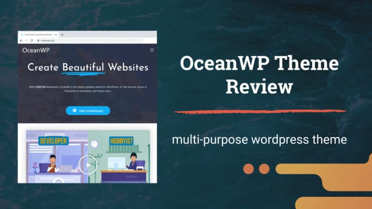 OceanWP WordPress Theme Review