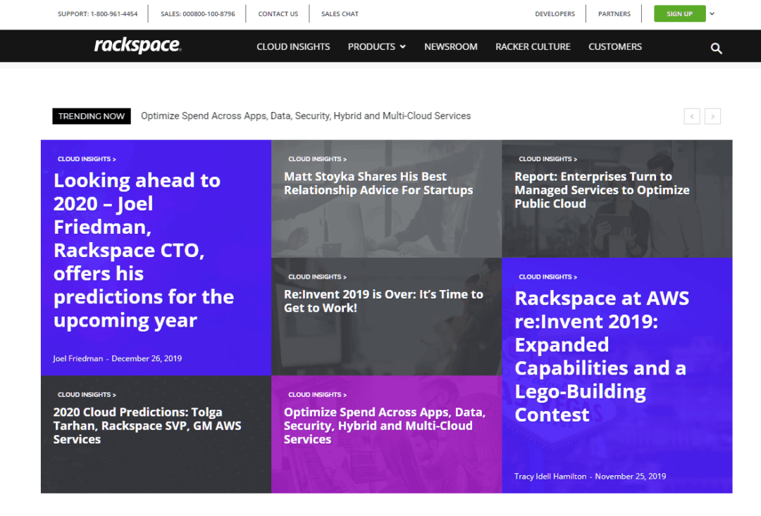 featured posts on rackspace blog