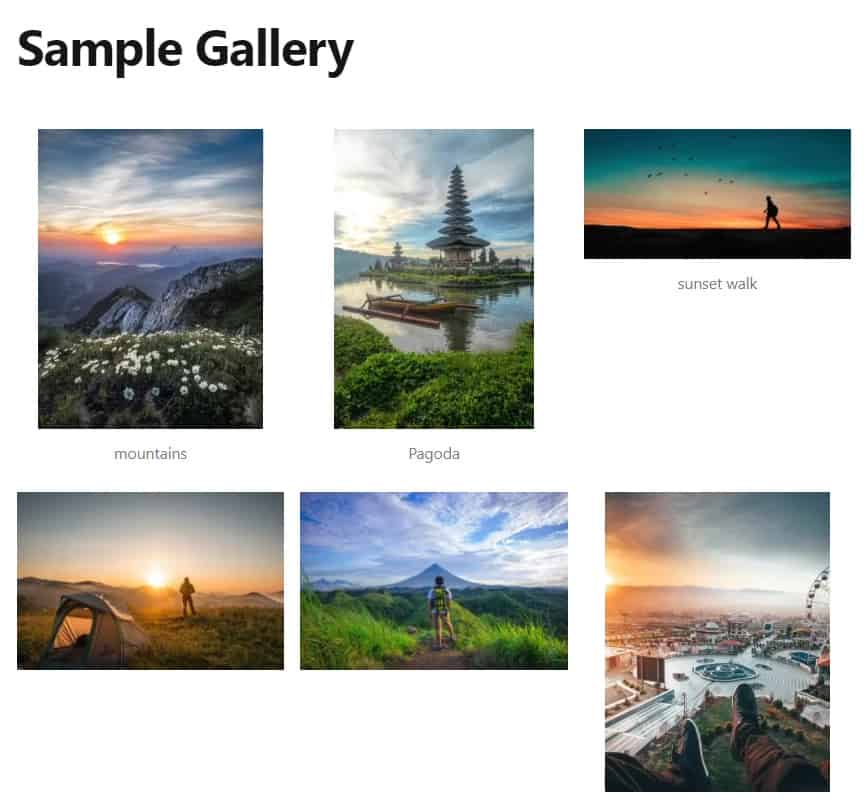 wordpress gallery made with classic editor