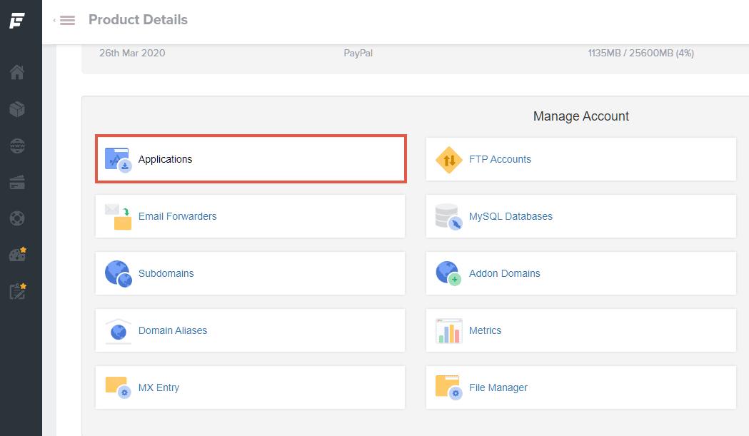 fastcomet one-click application installs