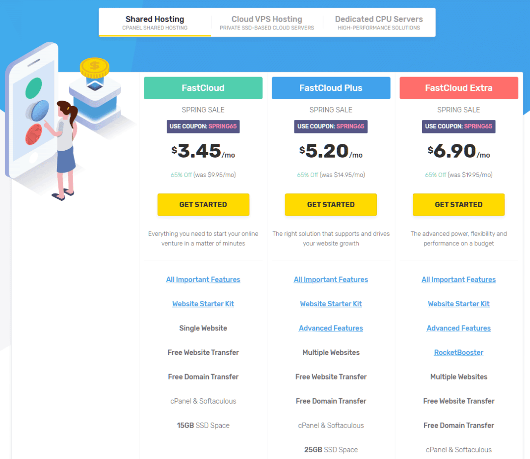 pricing - fastcomet review