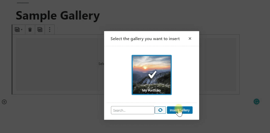 inserting foogallery to wordpress editor