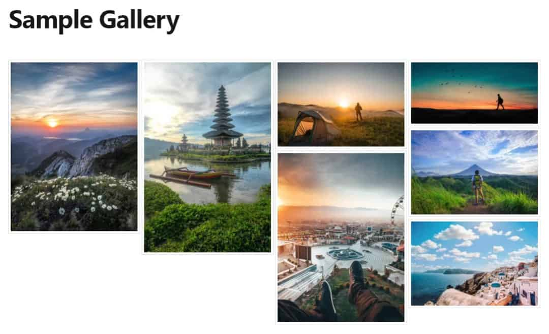 foogallery live on wordpress page