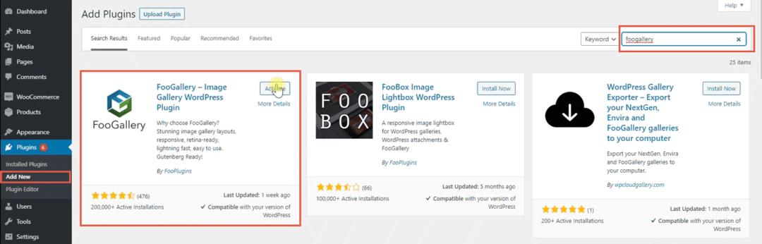 install foogallery plugin