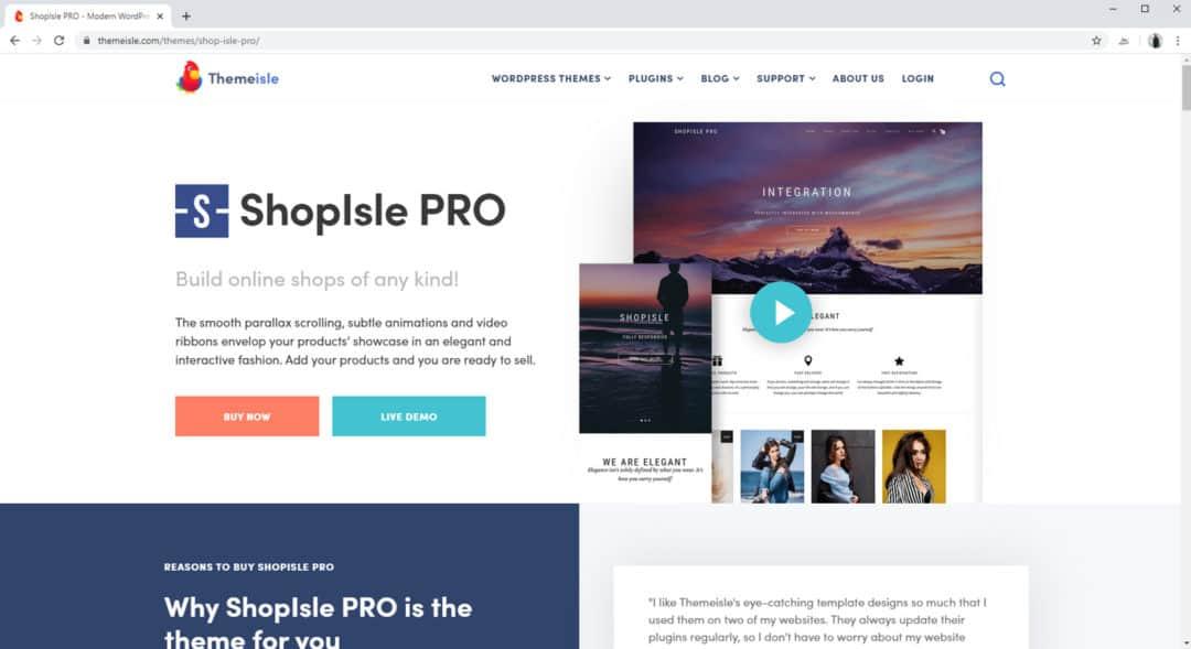 shopisle pro from themeisle