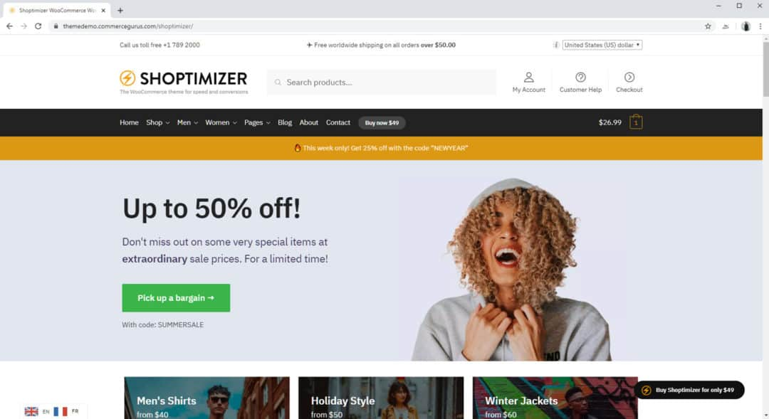 shoptimizer - highly optimized woocommerce theme