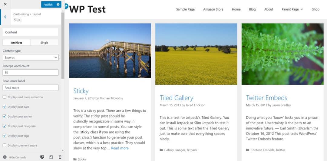 blog layout designed in generatepress