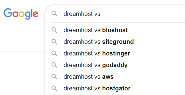dreamhost competitors