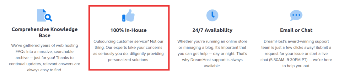 dreamhost in-house expert support team