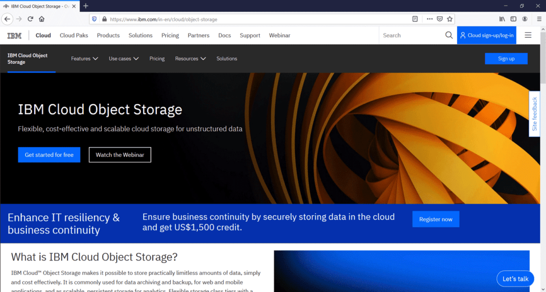 ibm cloud object storage - amazon s3 alternatives