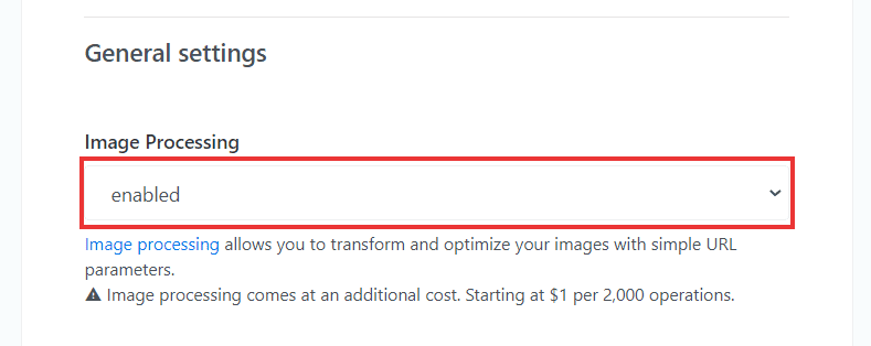 keycdn enable image processing