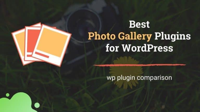Photo gallery plugins for wordpress