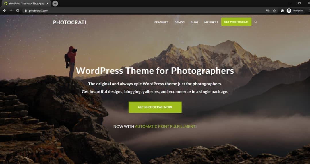 photocrati wordpress theme for photographers