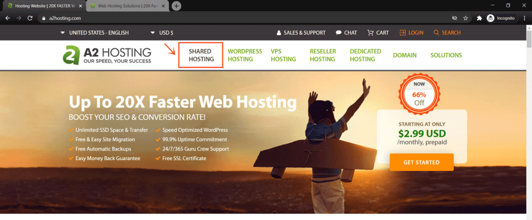 best wordpress hosting - a2 hosting