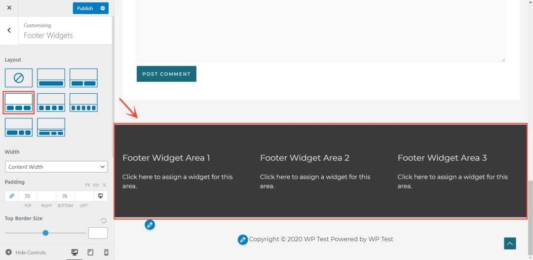 astra footer widgets