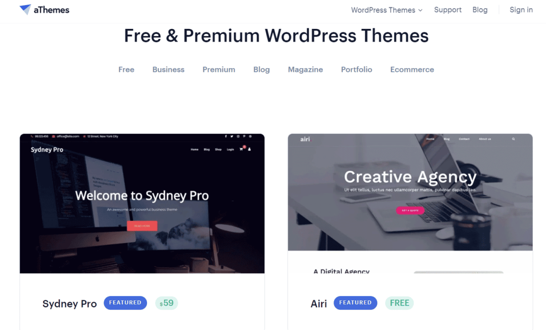 Athemes wordpress theme provider