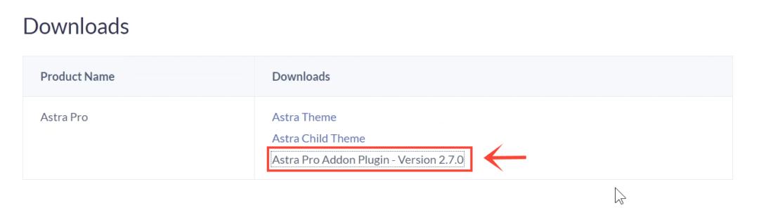 download astra pro addon plugin