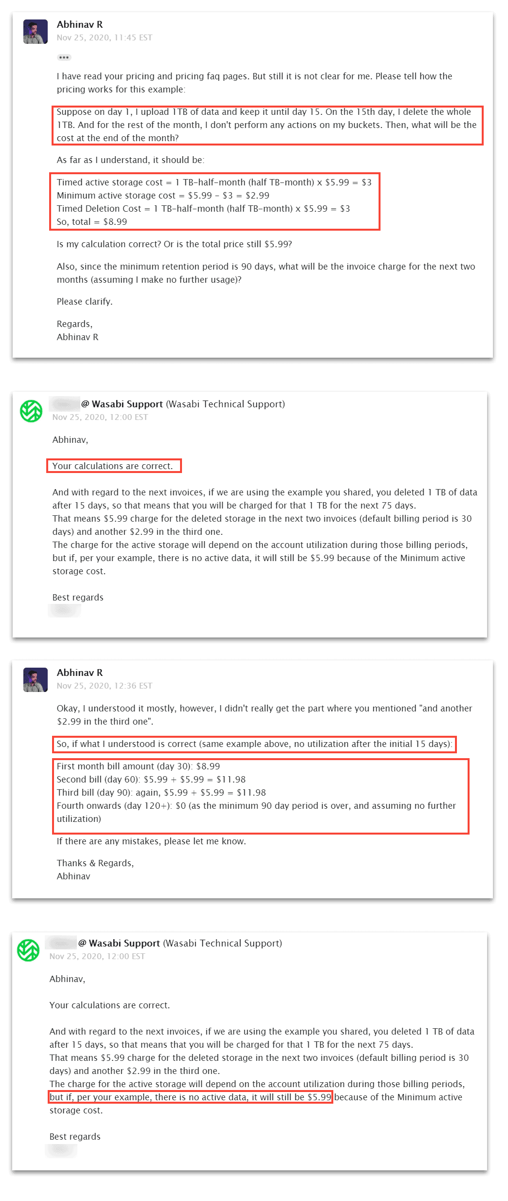 wasabi's billing - email chat