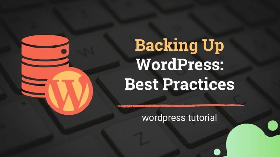 Back up WordPress