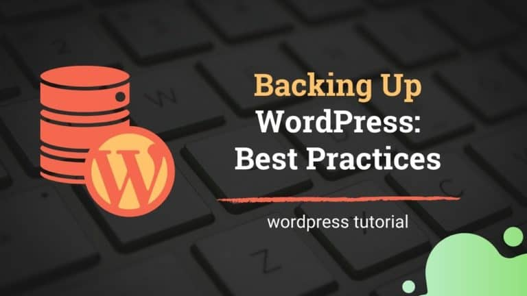 Back up WordPress