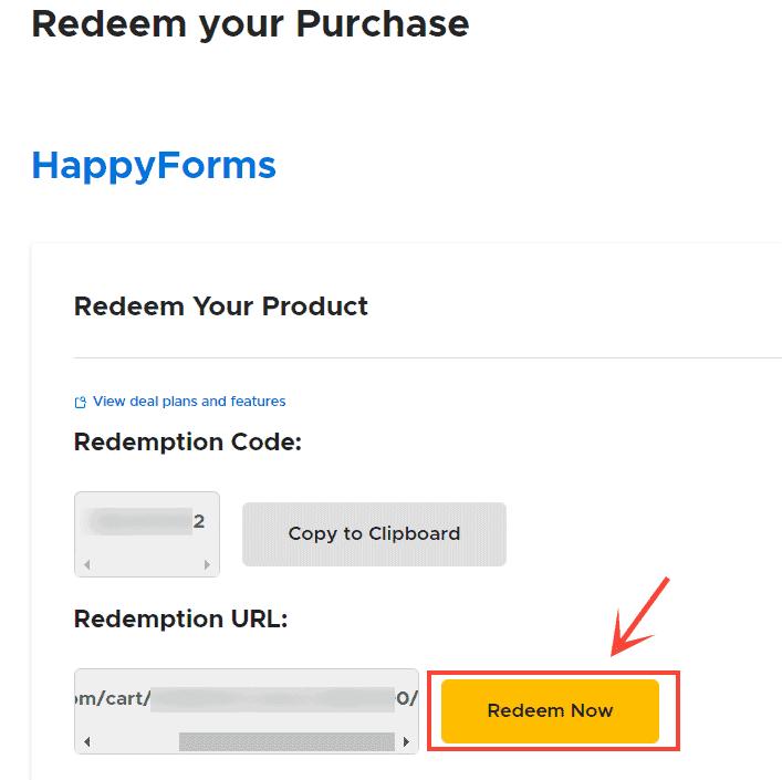 redeem happyforms code appsumo